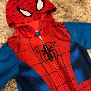 Other - ❇️Kids Fleece Spider Man Onesie 🕷❤️HOST PICK💙